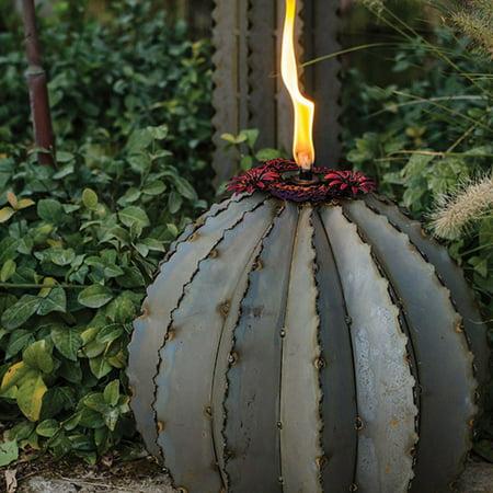 Desert Steel Golden Barrel Cactus Torch ()