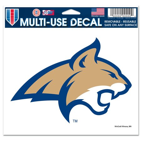 Montana State Bobcats Official NCAA 4 inch x 6 inch Car Window Cling Decal by (Montana State Car)