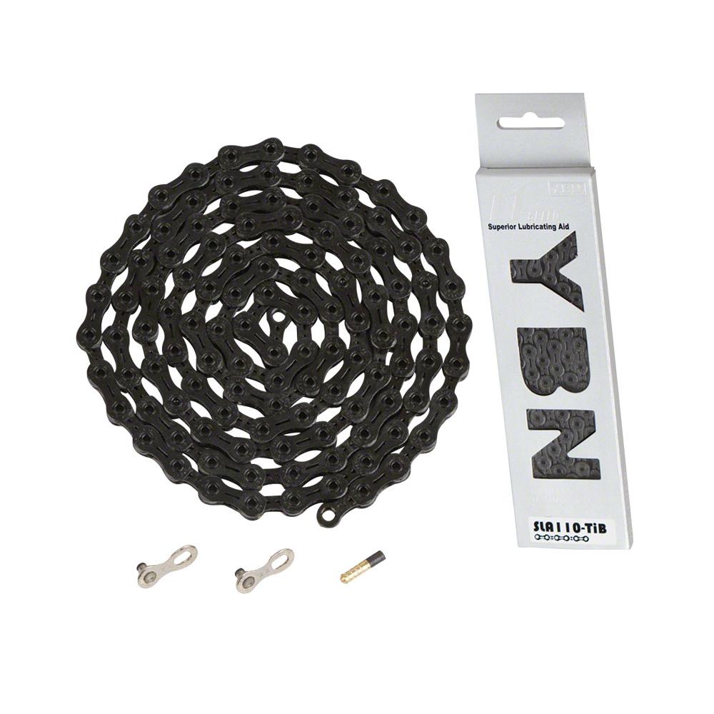 YBN Ti-Nitride 11-speed Road Bike Chain Black 116L w/ Master QR Link