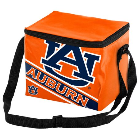 Tigers Ice (Forever Collectibles Big Logo Stripe 6 Pack Cooler, Auburn University)
