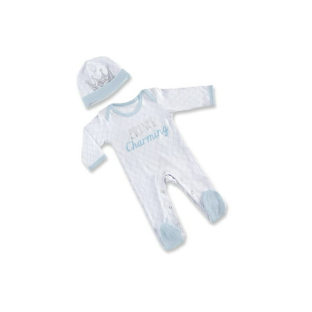 - Little Prince Tight Fit Cotton Footed Pajamas & Cap, 3pc Gift Box Set (Baby Boys) 0-6mo