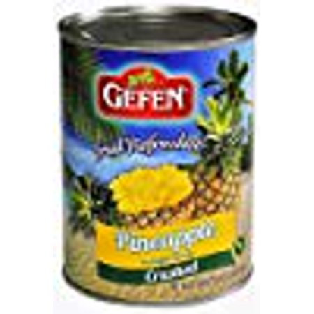 Gefen Fruit Refresher Pineapple Crushed KFP 20 Oz. Pack Of 6. (Crushed Pineapple)