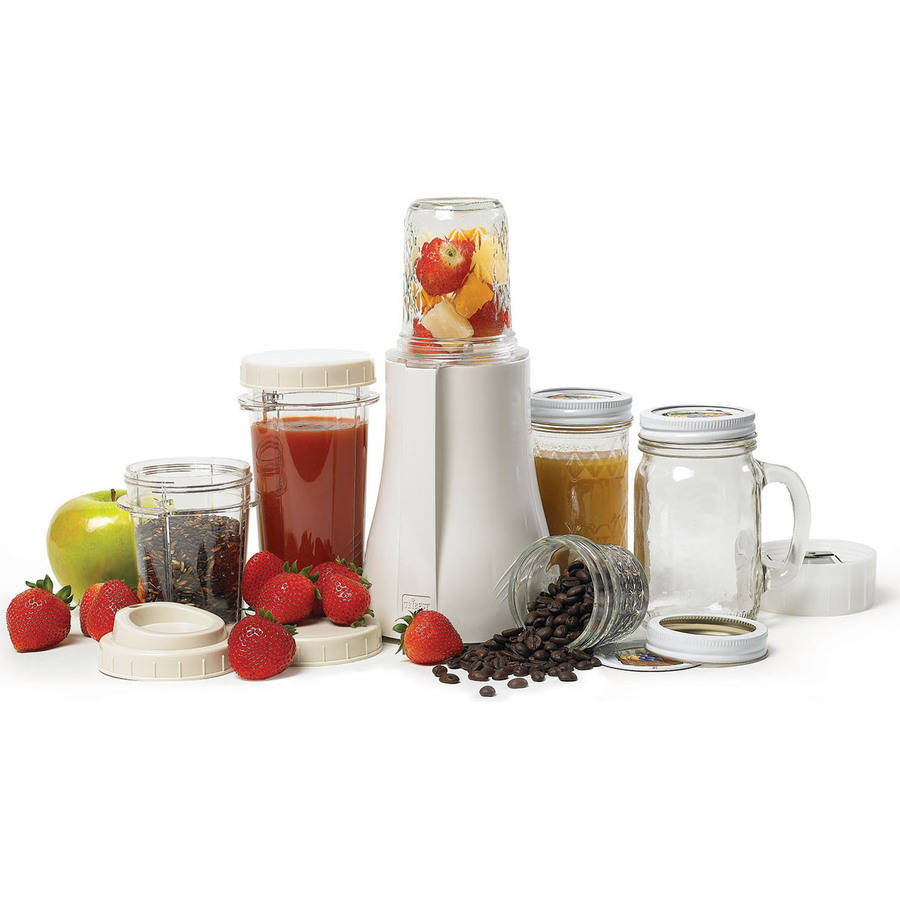 Tribest Mason Jar Personal Blender, White