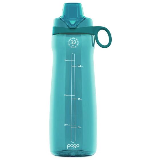 626da6f2ff Pogo BPA-Free Plastic Water Bottle with Chug Lid, 32 oz - Walmart.com