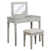 Product Image Linon Bella Fretwork Vanity Set With Arrow Fabric Seat