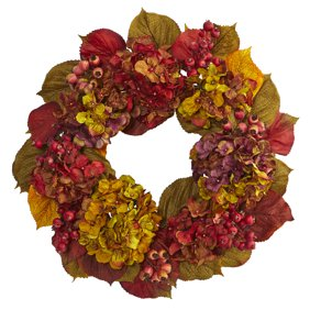 Rustic Front Door Autumn Wreath W