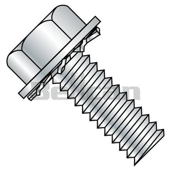 Shorpioen 0405EW No.4-40 x 0.31 Unslotted Hex Washer External Sems Fully Threaded Machine Screw - Zinc - Box of 10000 - image 1 de 1