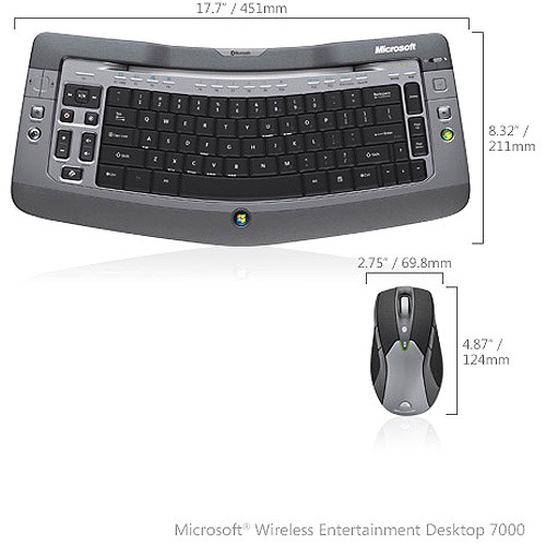 Microsoft Wireless Entertainment Desktop 7000 (Silver)