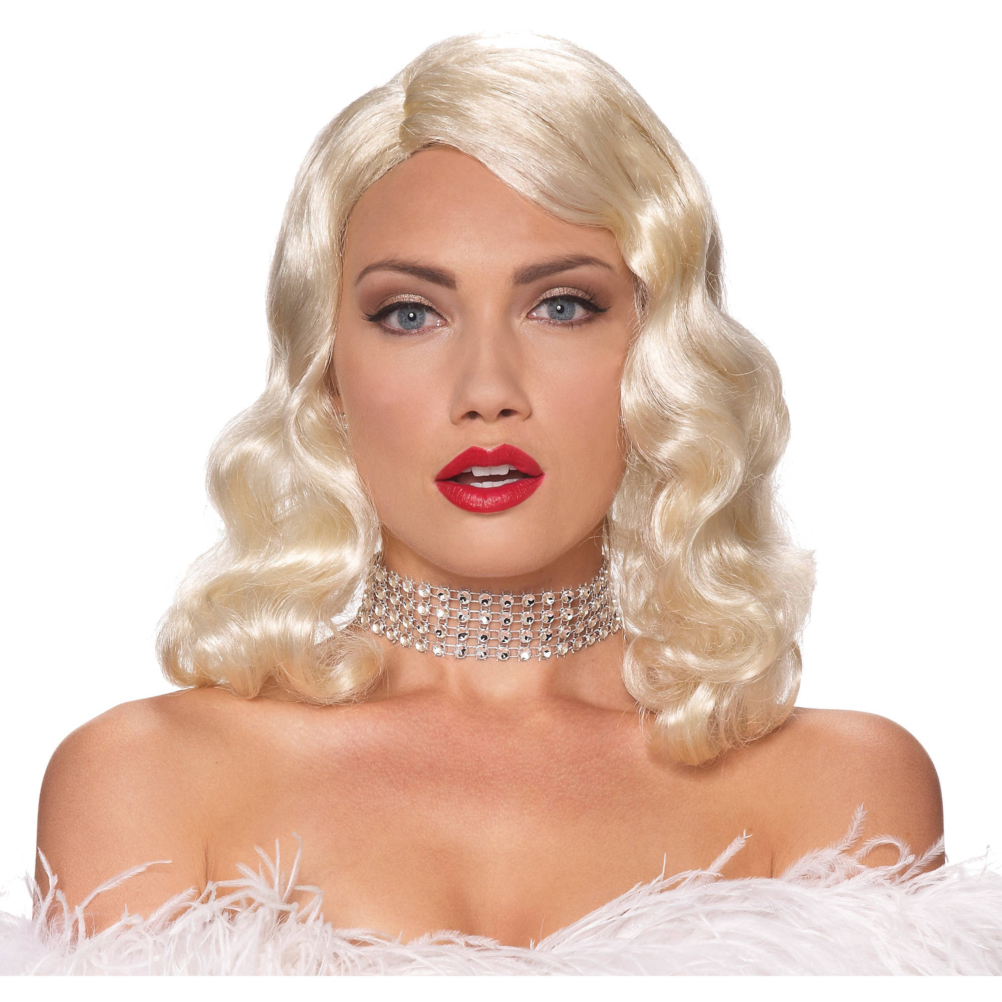 blonde wig femme fatale adult halloween accessory - Halloween Costumes With Blonde Wig