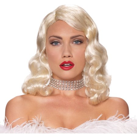 Blonde Wig Femme Fatale Adult Halloween Accessory