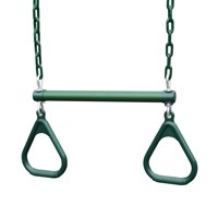 Gorilla Playsets Green Trapeze Bar and Green Rings