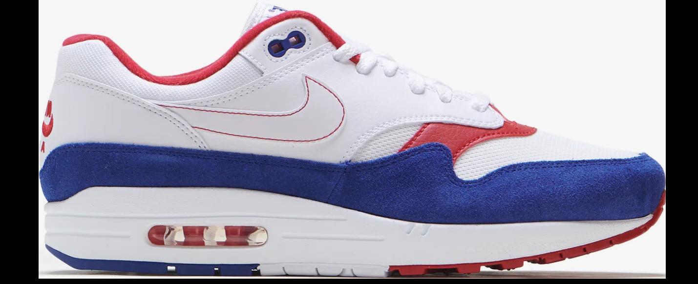 Nike - NIKE AIR MAX 1 WHITE RED BLUE