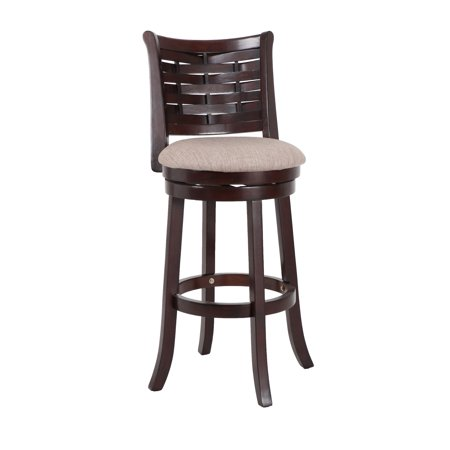 New Classic Furniture Preston Cherry 29-inch Bar Stool with Fabric Seat