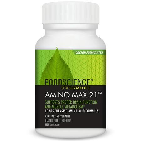 Amino 90 Tabs (FoodScience of Vermont Amino Max 21 Capsules, 90 Ct )