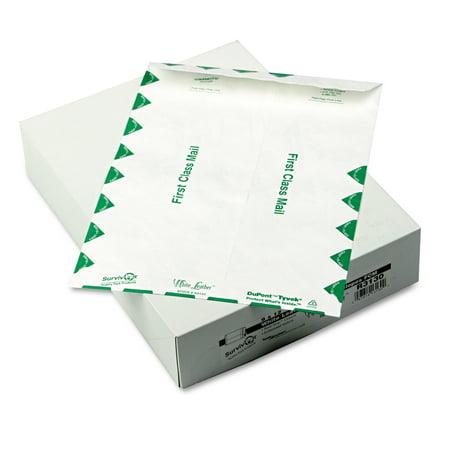 Survivor White Leather Tyvek Mailer, First Class, 9 x 12, White, 100/Box -QUAR3130