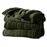 Sunbeam Heated Electric Channeled Microplush Blanket, Multiple Sizes and Colors Available