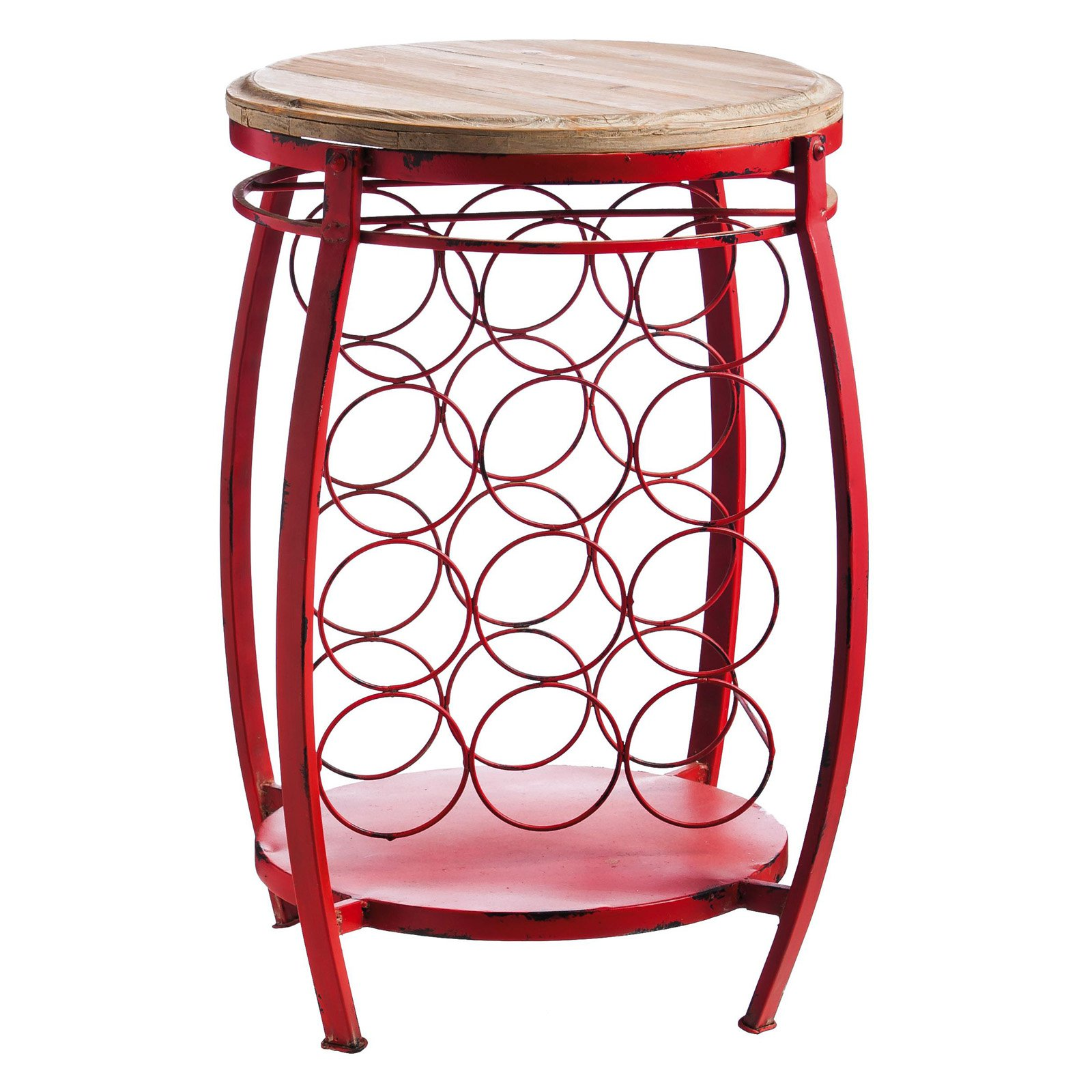 Evergreen Enterprises Wooden Wine Holder Side Table