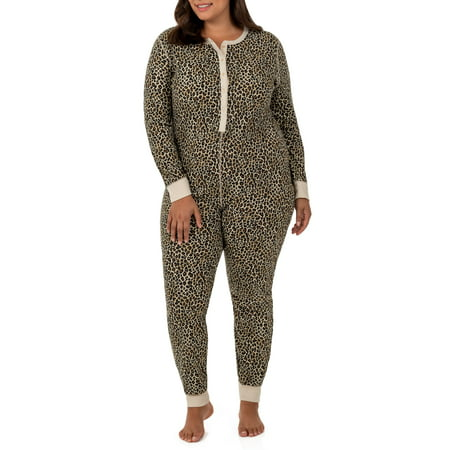 - Fit for Me by Fruit of the Loom Women's Plus Size Waffle Thermal Underwear Union Suit
