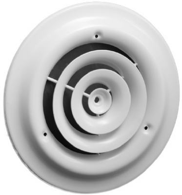 American Metal Products 1500W6 6-Inch White Round Steel Ceiling Diffuser