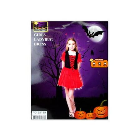 Four Girl Halloween Costumes (Kole Imports OT544-4 Girls Ladybug Halloween Costume, 4)