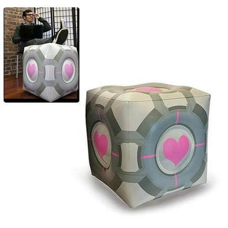 Portal Original Companion Cube Inflatable Ottoman - Portal Companion Cube