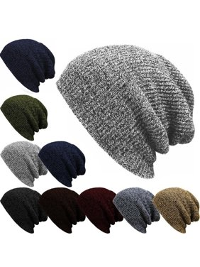 a392f392993 Product Image Men Slouch Skull Oversize Long Beanie Women Baggy Cap Crochet  Knit Ski Hat