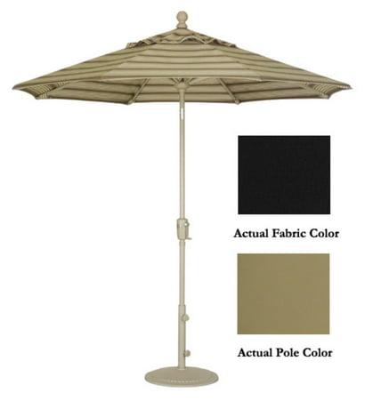 9 39 crank tilt patio parasol de march champagne noir. Black Bedroom Furniture Sets. Home Design Ideas