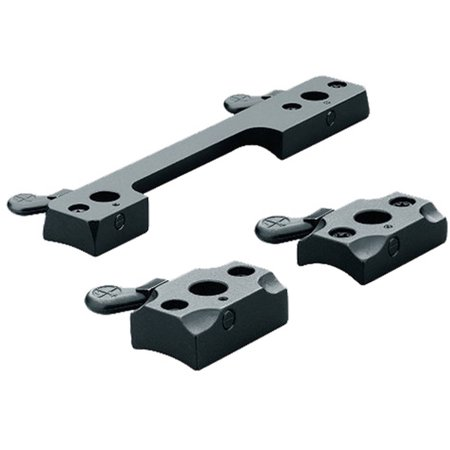 Leupold 50067 1 Piece Quick Release Base For Rem 74007600 Gloss Black