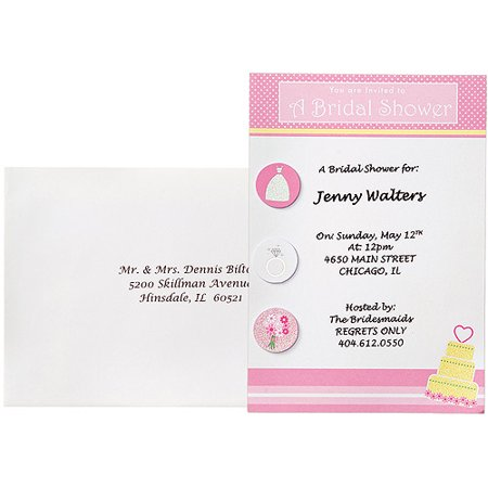wilton bridal shower invitation kit 12 ct 1008 1542