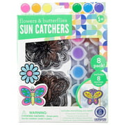 Kids Craft Flowers And Butterflies Sun Catchers Set