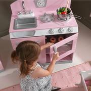 KidKraft Pink Retro Kitchen & Refrigerator - Walmart.com