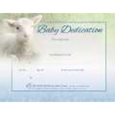 Certificate-Baby Dedication (Matthew 19:14) (Full Color Coated Stock) (Pack Of 6)