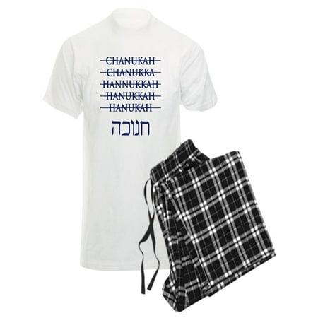 CafePress - Spelling Chanukah Hanukkah Hanukah Men's Light Paj - Men's Light Pajamas (Story Pad)