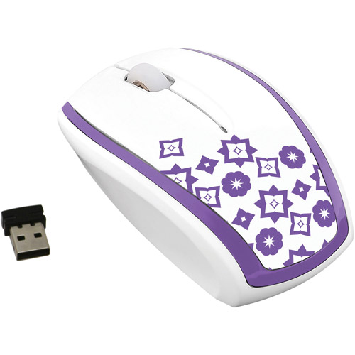 FileMate Imagine Series M2820 Wireless Optical Mouse, Assorted Patterns