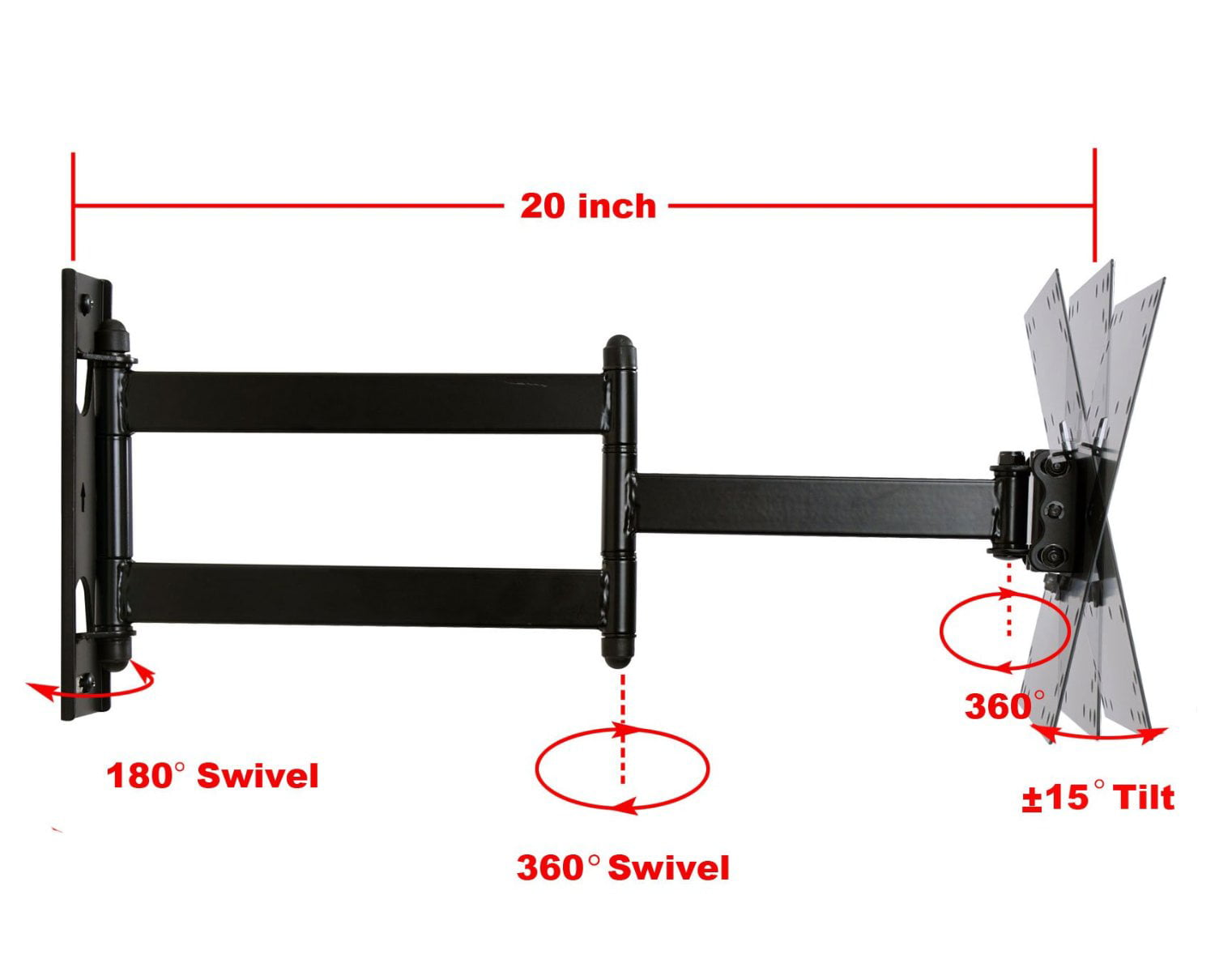 Single stud tv wall mount - Videosecu Tilt Swivel Tv Wall Mount For 22 40 Inch Full Motion Rca Sceptre Toshiba Insignia Lcd Led Hdtv Heavy Duty 3kb Walmart Com