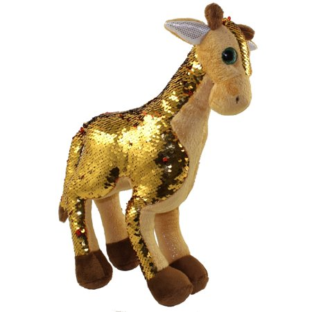 Golden Giraffe (Adventure Planet Sequinimals Plush - GIRAFFE (Sequin - Gold & Red) (15)