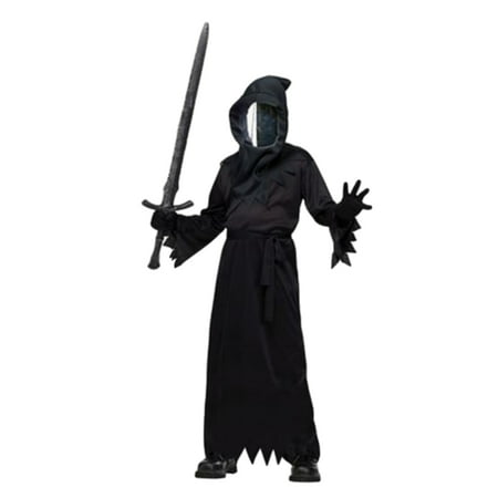 Fun World Boys Haunted Mirror Ghoul Costume with Scary Mask  - Size - Medium (8-10)