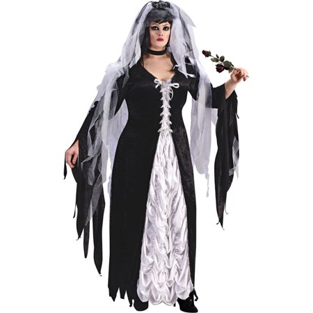 Bride Outfit (Morris Costumes Adult Womens Plus Size Bride Of Darkness Outfit 14-16, Style)