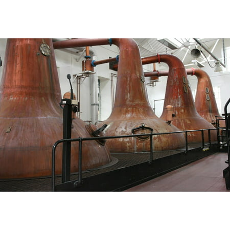 Canvas Print Distillery Whisky Single Malt Burn Distill Stills Stretched Canvas 10 x - Old Single Malt Whiskey
