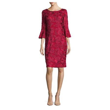 Alex Evenings Sleeveless - Three-Quarter Bell Sleeve Dress