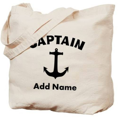 Cafepress Personalized Captain Tote Bag