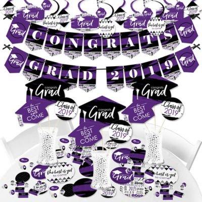 Purple Grad - Best is Yet to Come - 2019 Purple Graduation Party Supplies - Banner Decoration Kit - Fundle (Best Hair Bundles 2019)