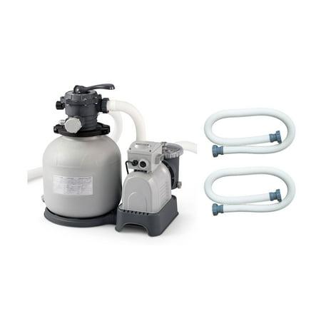 Intex krystal clear swimming pool sand filter pump replacement hose 2 pack Swimming pool pump replacement