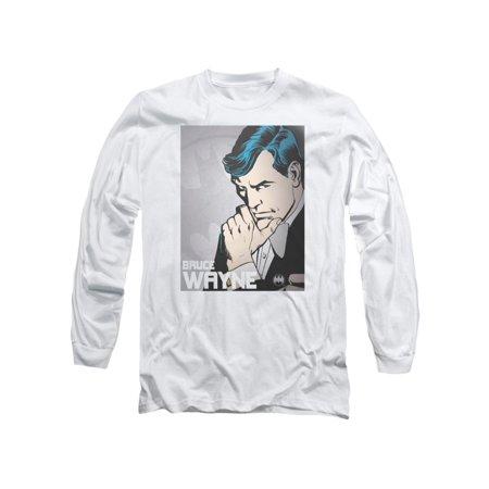 DC Comics Batman Bruce Wayne Adult Long Sleeve T-Shirt Tee