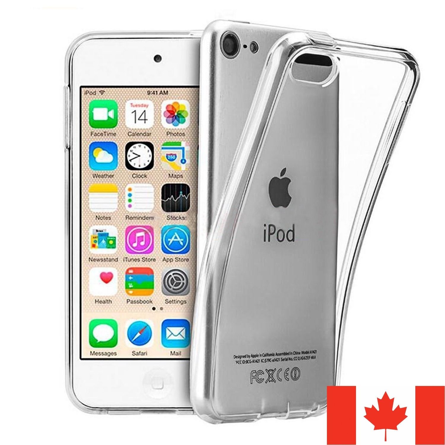 For iPod Touch 5 / 6 Case - Clear TPU Transparent Cover 5th