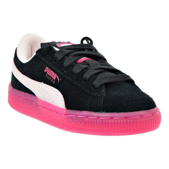 efd8f74b5c7 PUMA - Puma Suede LFS Iced Little Kids (PS) Shoe Black Pink Beetroot ...