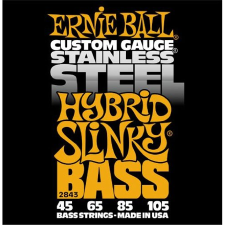 - Ernie Ball Hybrid Slinky Stainless Steel Electric Bass Strings - 45-105 Gauge