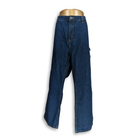 Indigo Alpha Women's Plus Sz Jeans 46 Wide Leg w/ Pockets Blue Flap Pocket Wide Leg Jeans