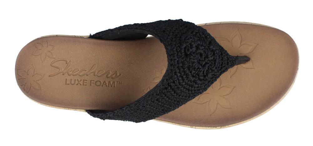 Skechers 38557BLK Women's BEVERLEE - FANCY WORK Sandal Shoes