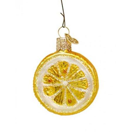 Old World Christmas Lemon Slice Glass Blown